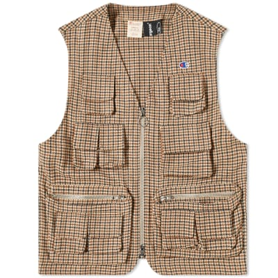 Champion x Clothsurgeon Check Utility Vest