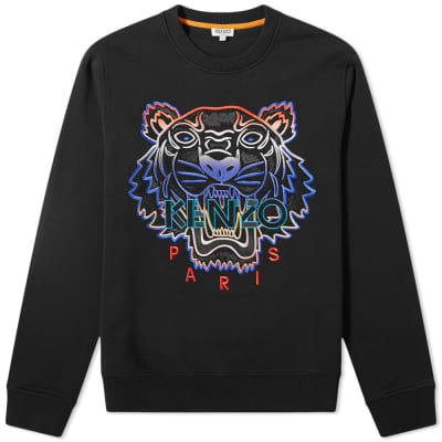 caeb7088f2da Kenzo Embroidered Gradient Tiger Crew Sweat