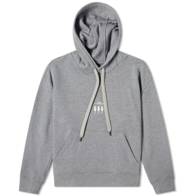 Neil Barrett Small Logo Lightning Bolt Popover Hoody
