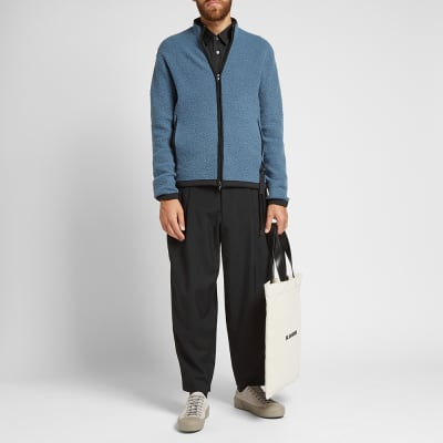 Comme des Garcons Homme Plus Cropped Satin Stripe Wool Pant