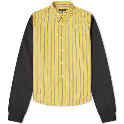 Comme des Garcons Homme Plus Striped Patchwork Shirt