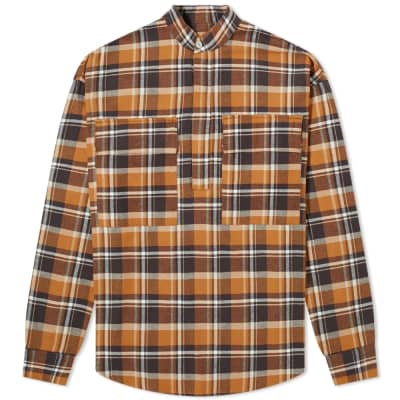 Fear of God Henley Plaid Sweat