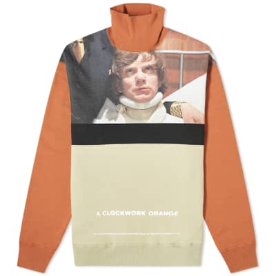 Undercover x A Clockwork Orange Funnel Neck Photo Print Crew Sweat