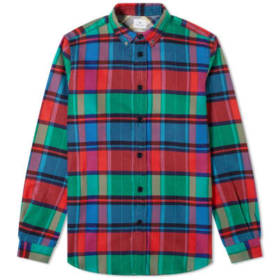Paul Smith Button Down Heavy Flannel Check Shirt