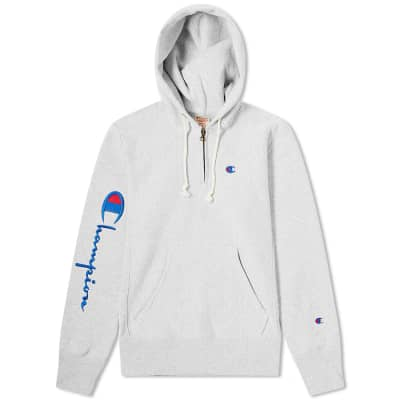 Champion Reverse Sleeve Logo Half Zip Hoody