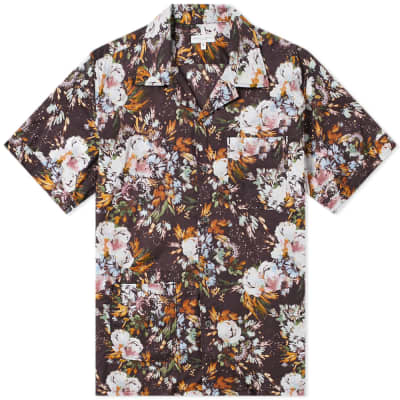 Engineered Garments Short Sleeve Botany Camp Shirt