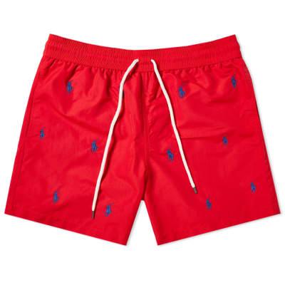 Polo Ralph Lauren All Over Embroidery Traveller Swim Short