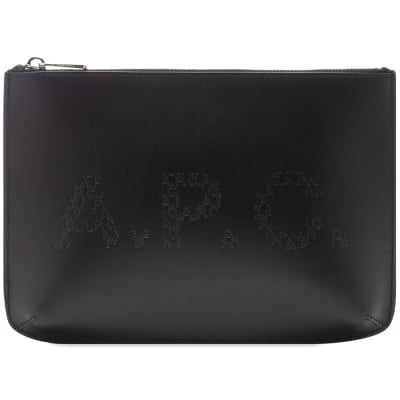 A.P.C. Jacob Embossed Logo Pouch