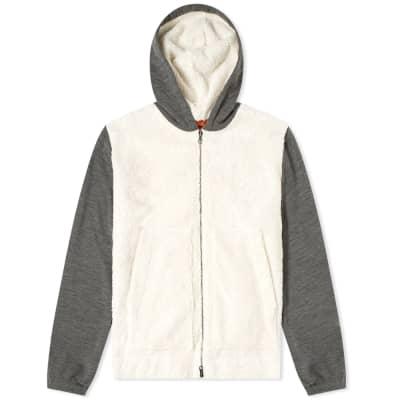 Barena Patchwork Zip Through Fleece Hoody