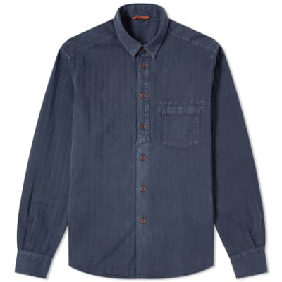 Barena Tonal Striped Twill Shirt