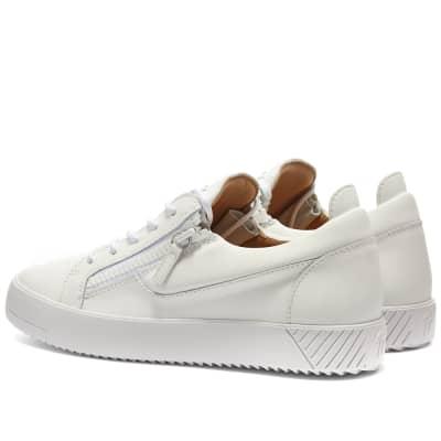 Giuseppe Zanotti Rubberised Low Zip Tonal Sneaker