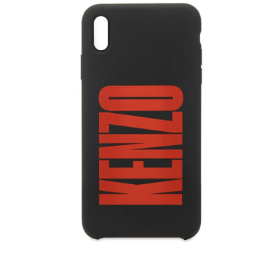 Kenzo iPhone XS Max Silicone Logo Case