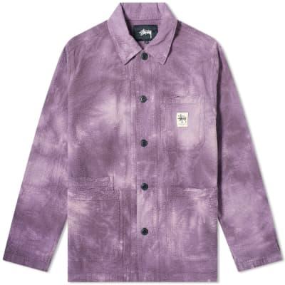 Stussy O'Dyed Seersucker Chore Jacket