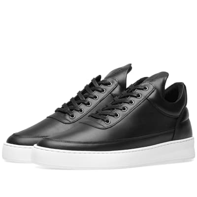 Filling Pieces Low Top Plain Lane Nappa Leather Sneaker