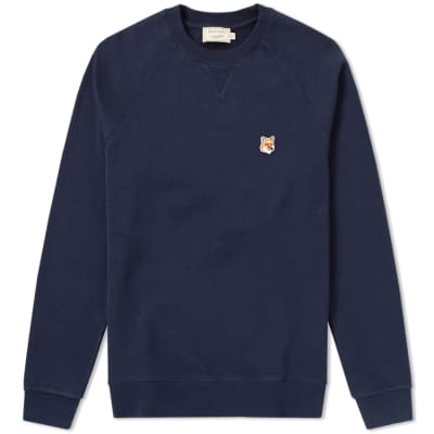 Maison Kitsuné Fox Head Patch Crew Sweat