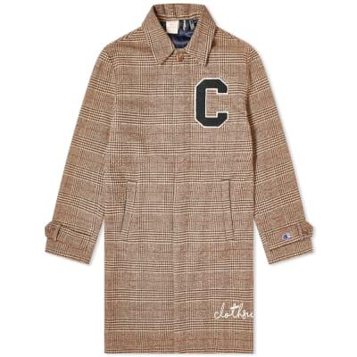 88e9a025f477 Champion x Clothsurgeon C Logo Checked Coat
