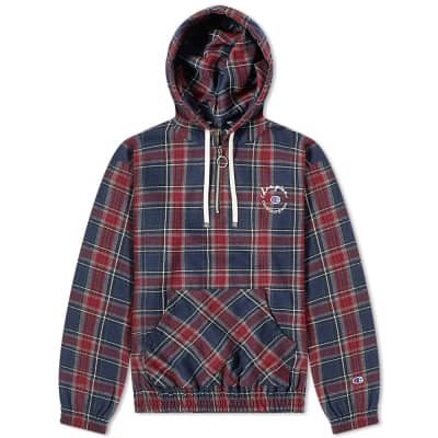 Champion x Clothsurgeon Tartan Popover Hoody