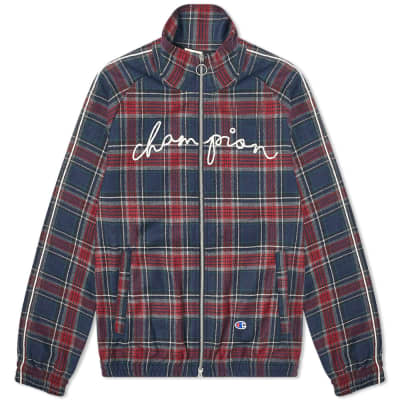 Champion x Clothsurgeon Script Logo Tartan Track Top