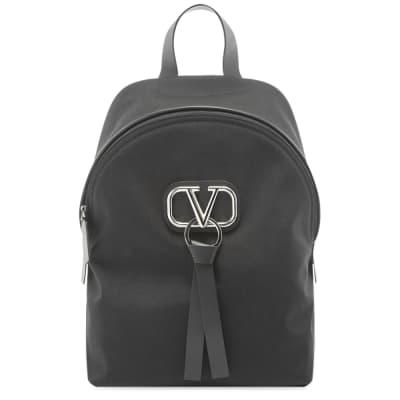 Valentino Go Logo Ribbon Nylon Backpack