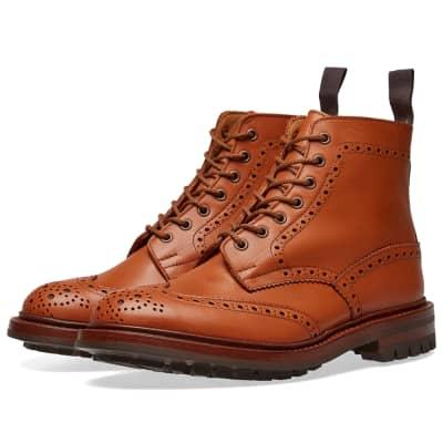 Tricker's Commando Sole Malton Brogue Derby Boot
