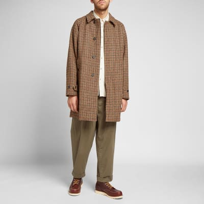 Beams Plus Harris Tweed Balmacaan Coat