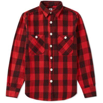 Sasquatchfabrix Sashiko Block Check Shirt