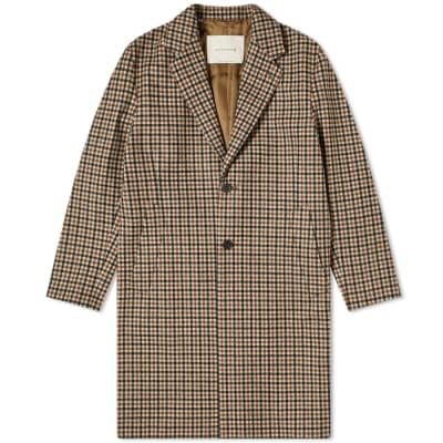 Mackintosh Stanley Loro Piana Check Chesterfield Coat