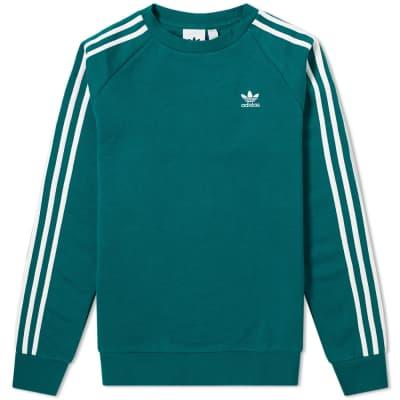 Adidas Adicolor 3 Stripe Crew Sweat