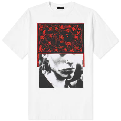 Raf Simons Slim Fit Pierced Mouth Tee