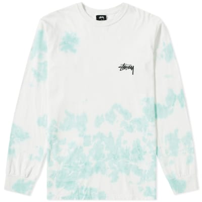 Stussy Long Sleeve Small Stock Tie Dye Tee
