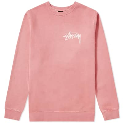 Stussy Stock Pigment Dyed Crew Sweat