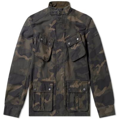 Barbour International Washed Camo Jacket