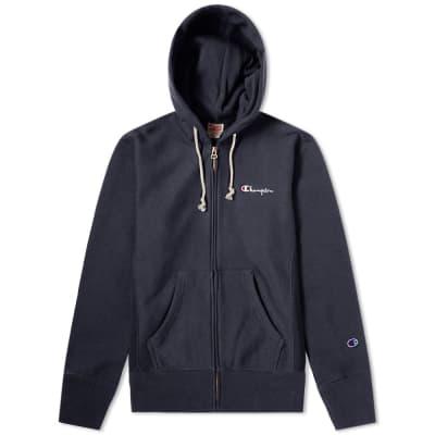 Champion Reverse Weave Script Logo Zip Hoody