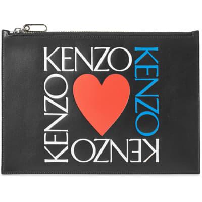 Kenzo Square Logo Heart Pouch