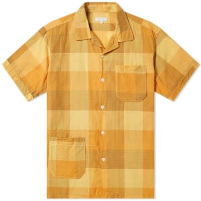 Engineered Garments Short Sleeve Check Camp Shirt