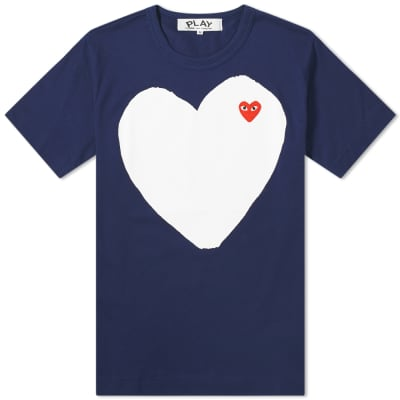 Comme des Garcons Play Solid Heart Logo Tee