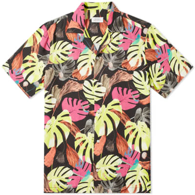 Saturdays NYC Canty Hyper Palm Print Vacation Shirt
