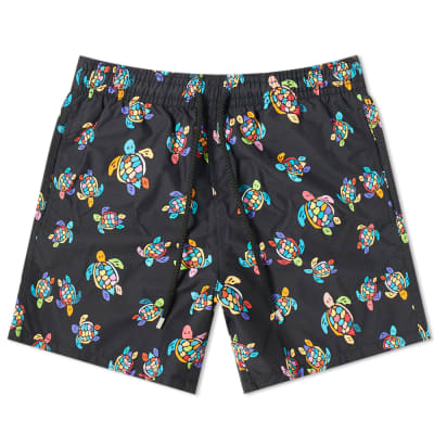 Vilebrequin Moorea Neon Turtles Swim Short
