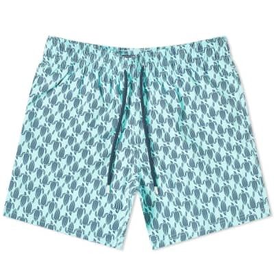 Vilebrequin Moorise Repeat Print Turtle Swim Short