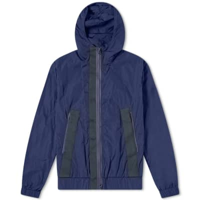 Barena Hooded Tech Zip Windbreaker