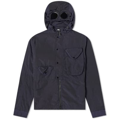 C.P. Company Goggle Chrome Nylon Hooded Zip Shirt