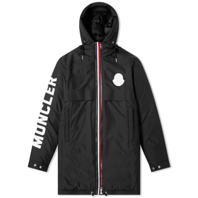 Moncler Charnier Logo Printed Down Filled Parka