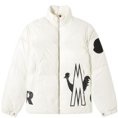 Moncler Friesian Logo Printed Down Jacket