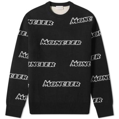 Moncler Repeat Intarsia Logo Crew Knit