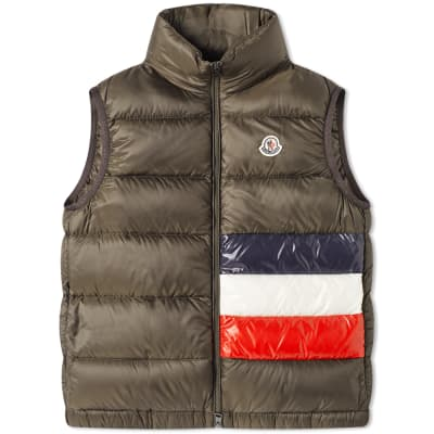 Moncler Sovex Tricolore Band Down Gilet
