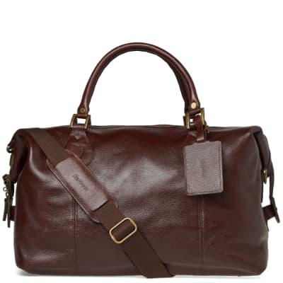 Barbour Leather Medium Travel Explorer