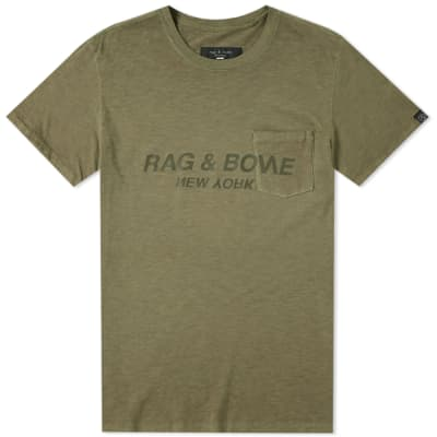 Rag & Bone Upside Down Printed Logo Tee