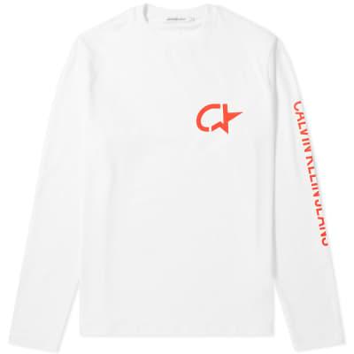 Calvin Klein Long Sleeve Modernist Star Print Tee