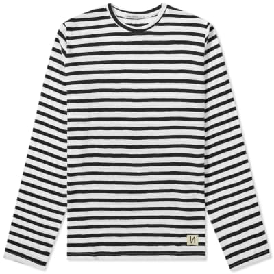 Nudie Long Sleeve Orvar Graphic Stripe Tee