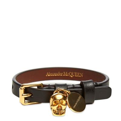 Alexander McQueen Single Wrap Skull Bracelet